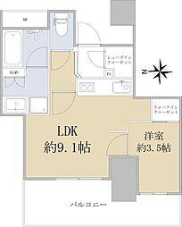 シエリアタワー仙台青葉通 4階1LDKの間取り