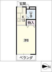 島田屋ハイツ[3階]の間取り