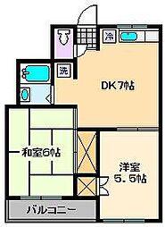 第5タカサハイム[3階]の間取り