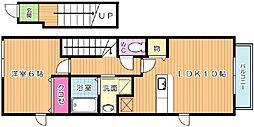 ベルムーンB棟[2階]の間取り