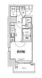 Osaka Metro中央線 九条駅 徒歩6分の賃貸マンション 6階1Kの間取り
