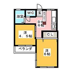 丸協マンション[3階]の間取り