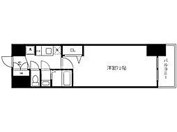 Osaka Metro中央線 九条駅 徒歩2分の賃貸マンション 6階1Kの間取り
