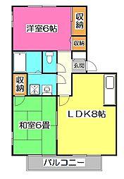欅閣(ケヤキカク)[2階]の間取り