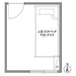 プラザ早稲田[0403号室]の間取り