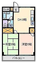 伊藤コーポ[2階]の間取り