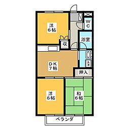 サープラスIIIHIGASHIBORA[2階]の間取り