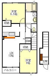 カーサ中野 B棟[2階]の間取り