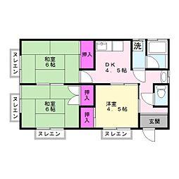 [一戸建] 千葉県市原市岩崎 の賃貸【/】の間取り