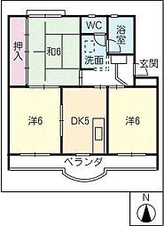 ハイネスハイツ稲垣[4階]の間取り