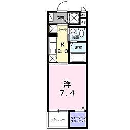 モデルノ関町[4階]の間取り