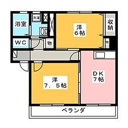 アストラF[1階]の間取り