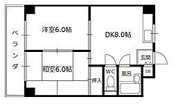 ルーチェ長田[6階]の間取り