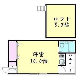 オズレジデンス鶴橋EAST[3階]の間取り