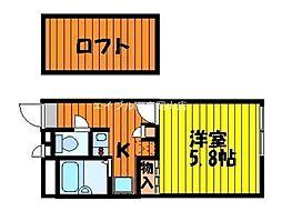 岡山県岡山市東区瀬戸町下丁目なしの賃貸アパートの間取り