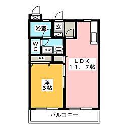シャトー富ヶ丘II[1階]の間取り