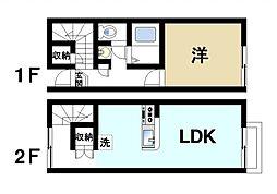 近鉄奈良線 近鉄奈良駅 バス16分 梅美台3丁目下車 徒歩3分の賃貸テラスハウス 1階1LDKの間取り