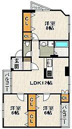 K's2番館[2階]の間取り
