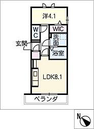 D‐roomビーチルック 3階1SLDKの間取り