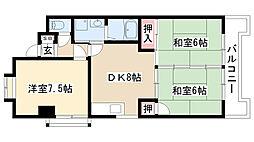 愛知県名古屋市守山区大永寺町の賃貸マンションの間取り