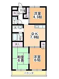 レスポワール祇園[106号室]の間取り