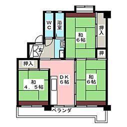 ビレッジハウス田原[2階]の間取り
