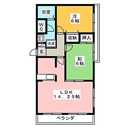 ファミール2000B[3階]の間取り