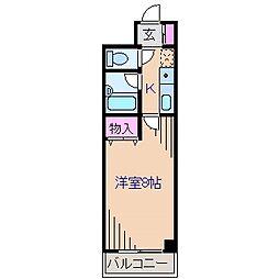 神奈川県横浜市神奈川区白幡仲町の賃貸マンションの間取り