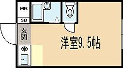 クレセント久津川[3階]の間取り