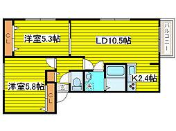 北海道札幌市東区北十条東15丁目の賃貸マンションの間取り