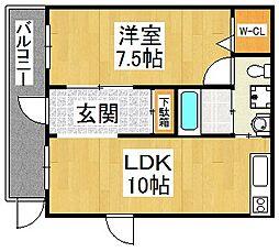 ブランカ堺東[4階]の間取り