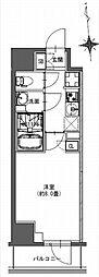 都営新宿線 馬喰横山駅 徒歩9分の賃貸マンション 5階1Kの間取り