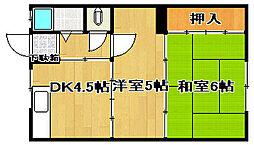コーポ千萩A棟[2階]の間取り