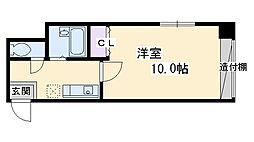 アマデウス麩屋町二条 1階1Kの間取り