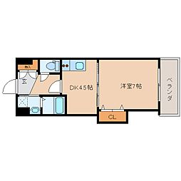奈良県香芝市瓦口の賃貸マンションの間取り