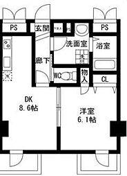 翠峯五番館(スイホウゴバンカン)[3階]の間取り