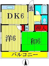 セントヒルズ五香B[1階]の間取り