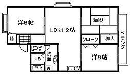 アットハウスMATSUTANI1[203号室]の間取り