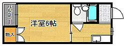 サンライズ一条3階Fの間取り画像