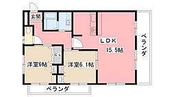 グランソレーユ[3階]の間取り