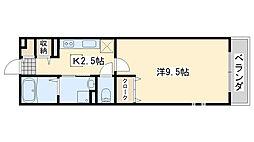 高松北2丁目アパート[2階]の間取り