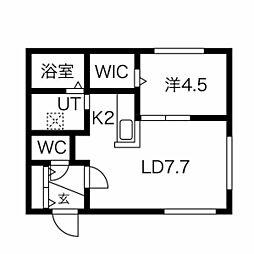 札幌市営南北線 澄川駅 徒歩5分の賃貸マンション 3階1LDKの間取り