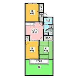セジュールKATSUMI[1階]の間取り