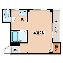 静岡県静岡市葵区上土の賃貸マンションの間取り