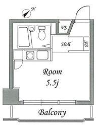 神奈川県相模原市中央区相模原4丁目の賃貸アパートの間取り