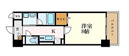 JR東海道本線 尾頭橋駅 徒歩4分の賃貸マンション 6階1Kの間取り