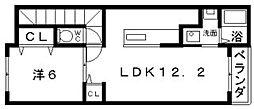 プラザ九源2[3階]の間取り