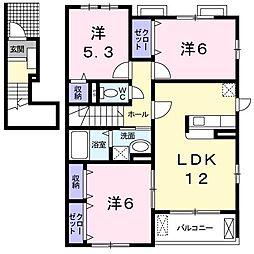 第6エスポワール[0201号室]の間取り