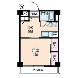 成城ロイヤルマンション[0306号室]の間取り