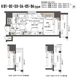ZOOM西五反田[11階]の間取り